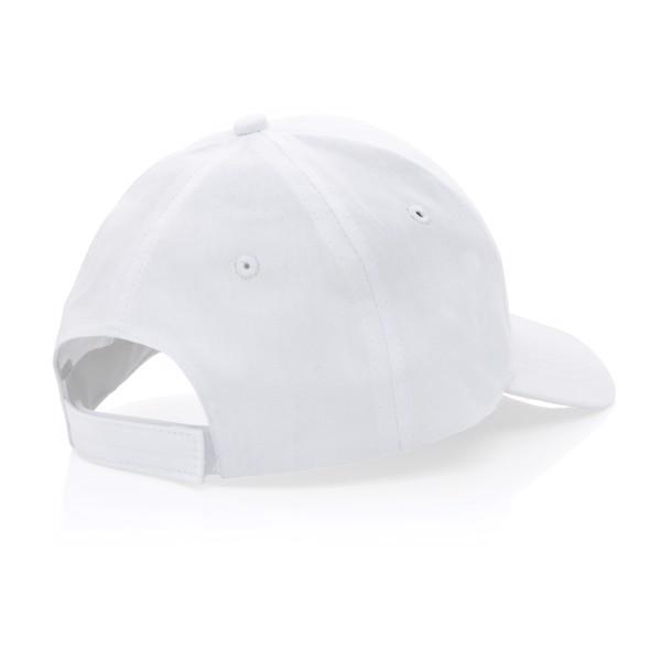 Gorra Impact de algodón reciclado con trazador AWARE™ - Blanco