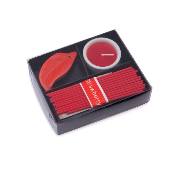 Inciense and Candle Set Nikel - Red