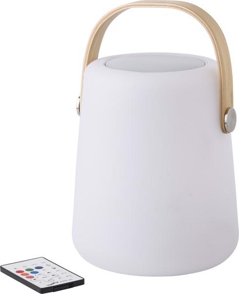 Plastic LED speaker