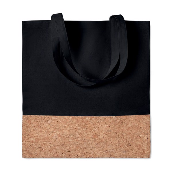 Shopping bag cork details Illa Tote - Black