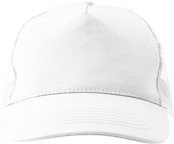 Cotton twill and plastic cap - White