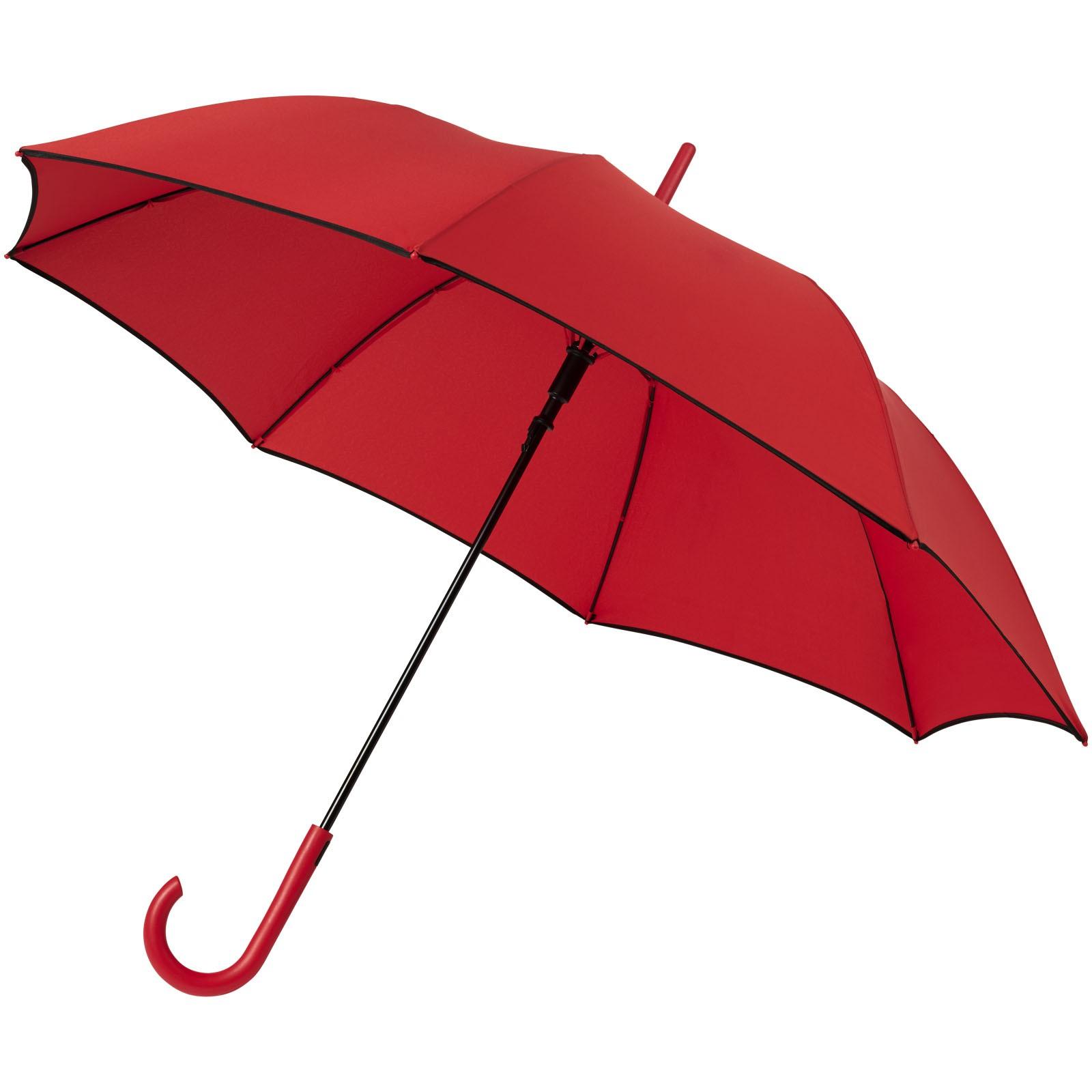 """Kaia 23"""" větruodolný barevný deštník s automatickým otvíráním - Červená s efektem námrazy"""