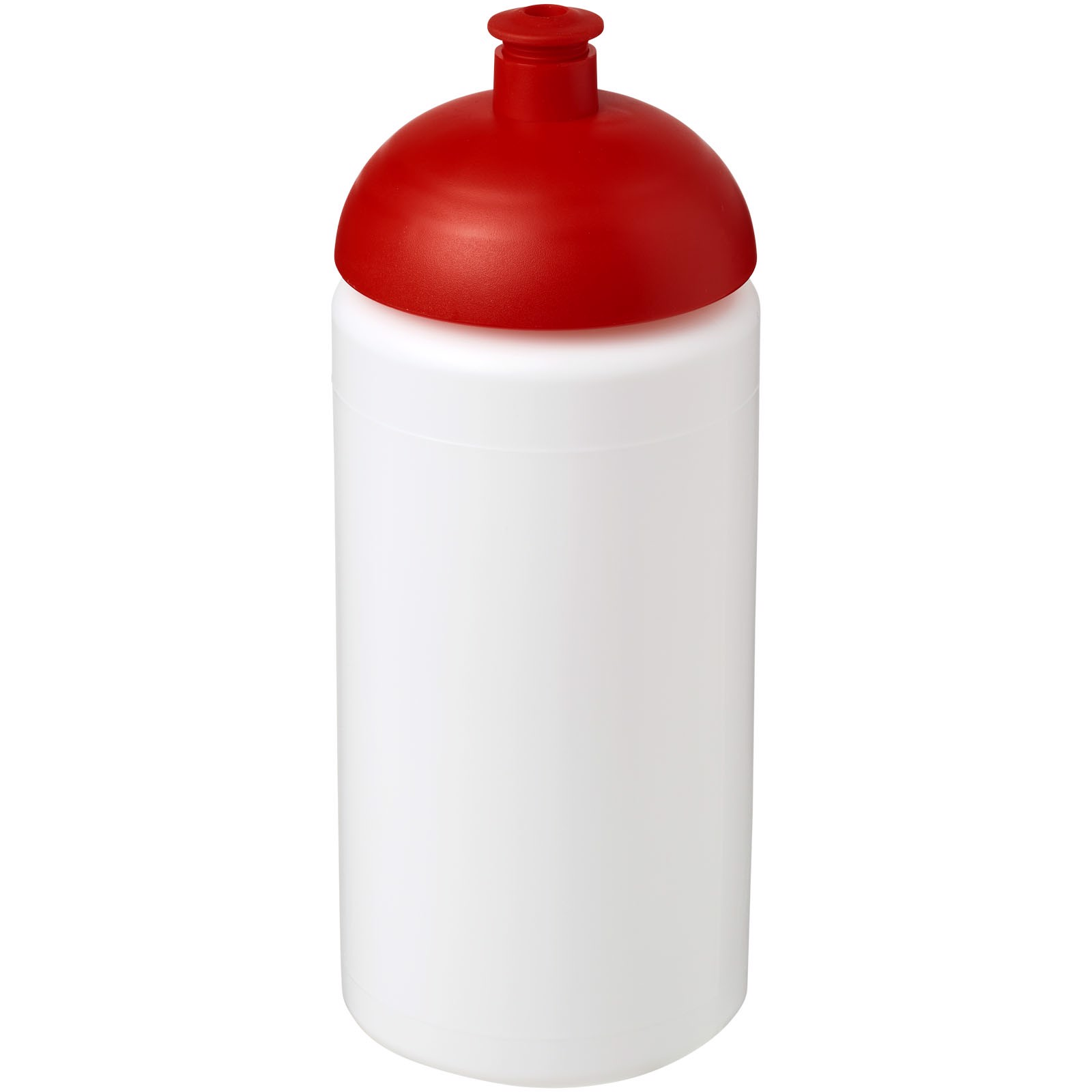 Sportovní láhev s kupolovitým víčkem Baseline® Plus grip 500 ml - Bílá / Červená s efektem námrazy