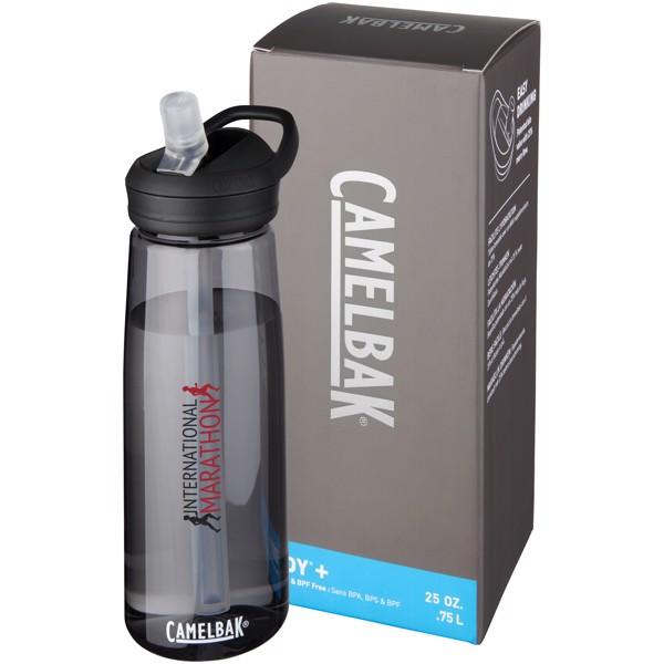"""Botella deportiva Tritan™ de 750 ml """"Eddy+"""" - Carbón"""