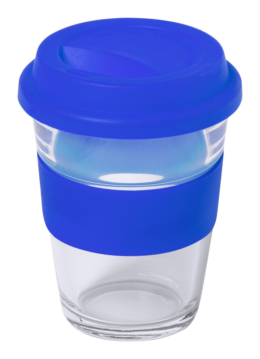 Glass Travel Mug Durnox - Blue / Transparent