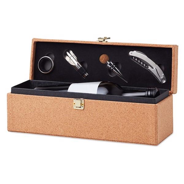 4 pcs wine box with cork Otago