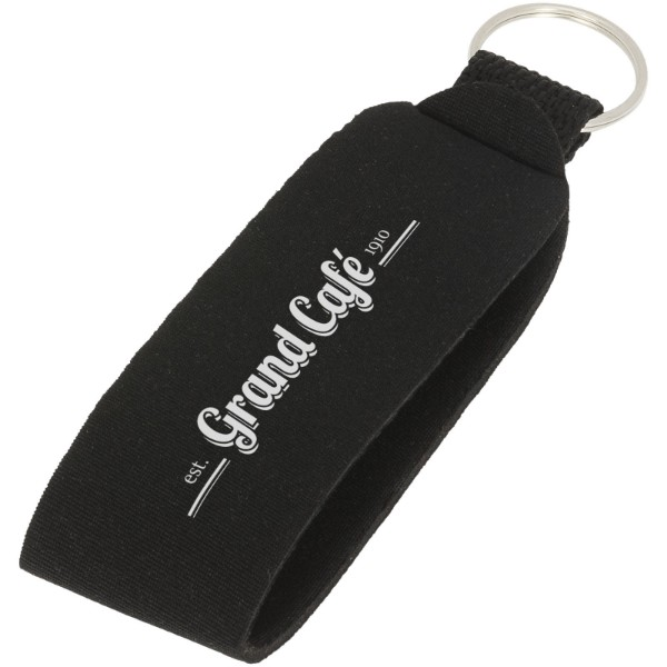 Vacay key tag with split ring - Solid black