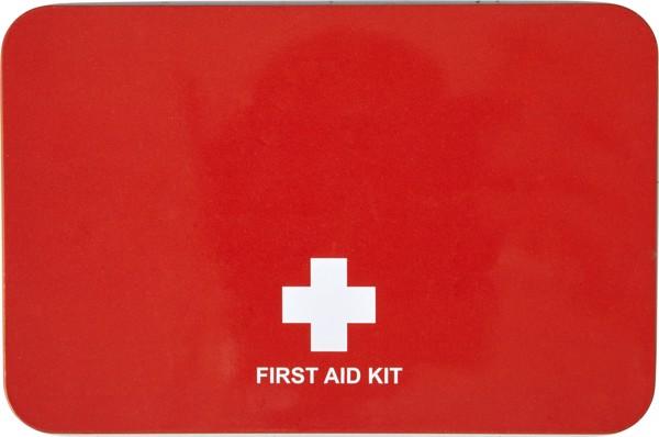 Metal tin first aid kit