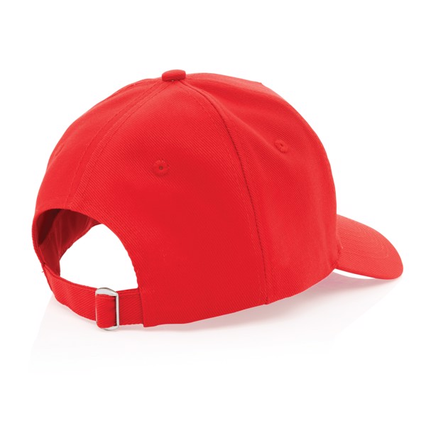 Gorra de algodón reciclado Impact 280gr con trazador AWARE™ - Rojo