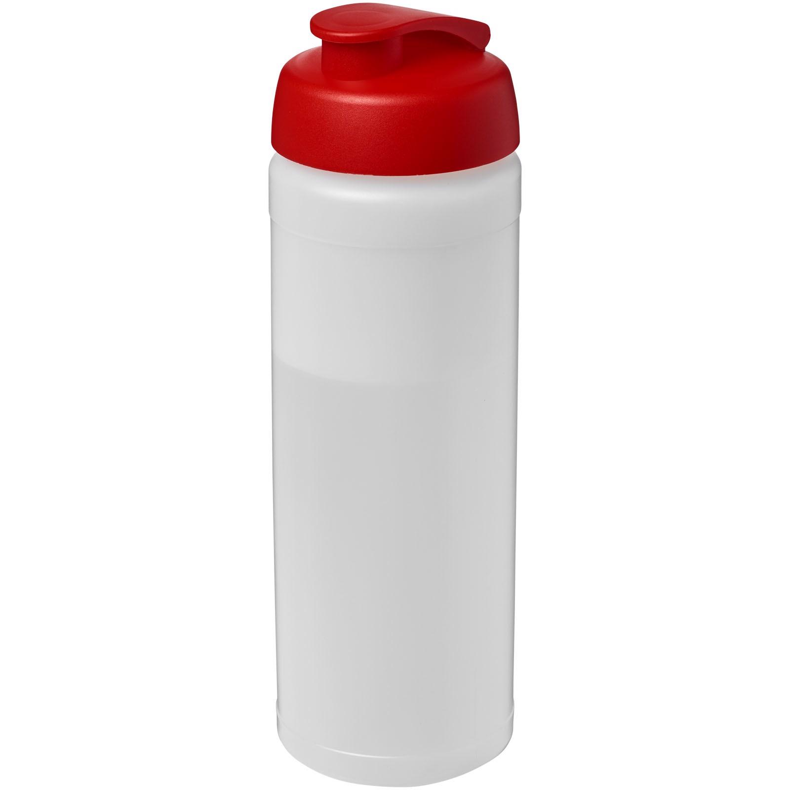 Baseline® Plus 750 ml Flasche mit Klappdeckel - Transparent / Rot