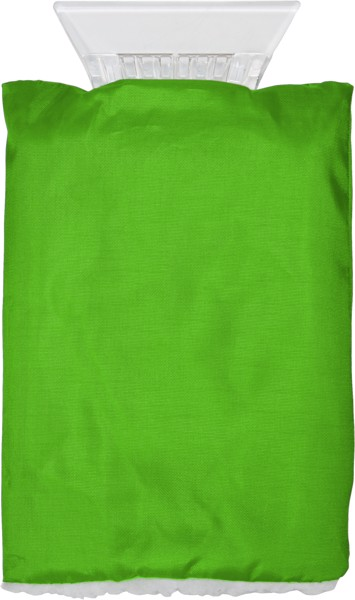 ABS ice scraper and polyester glove - Light Green