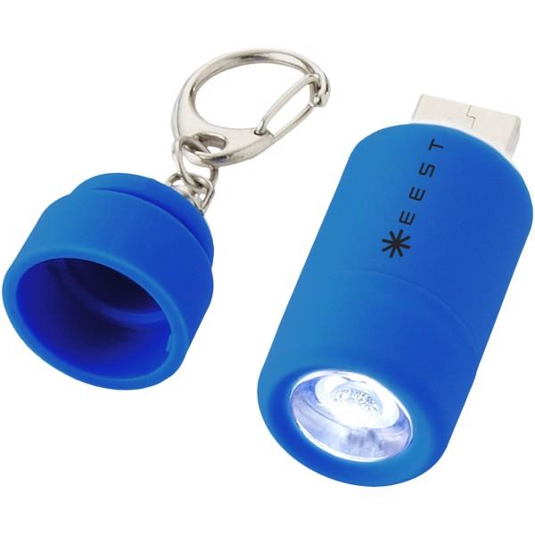 Avior wiederaufladbares LED-USB-Schlüssellicht - Hellblau