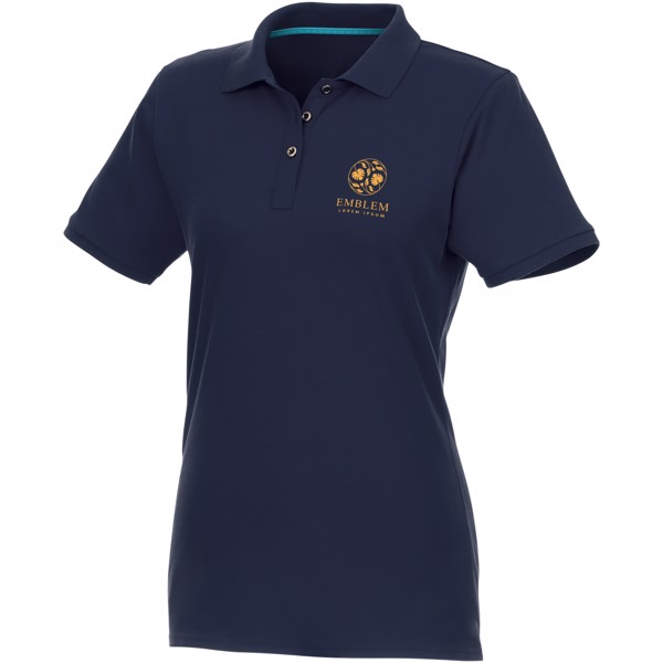 Beryl short sleeve women's GOTS organic GRS recycled polo - Navy / M