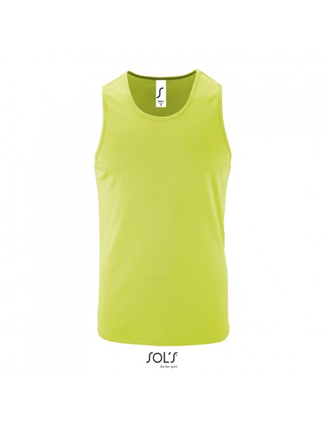 Sols Sporty Men's Raglan Tank Top T-shirt  - Apple Green
