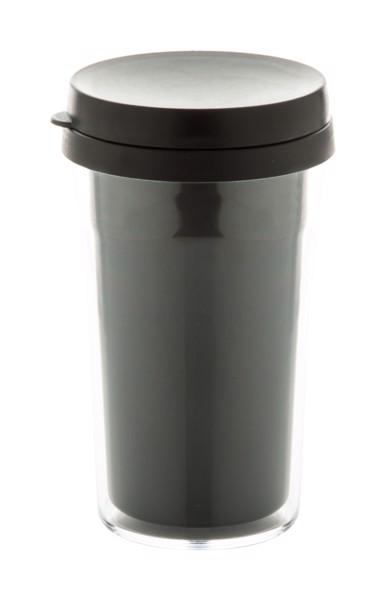 Cană Termoizolantă Doppler - Transparent / Negru