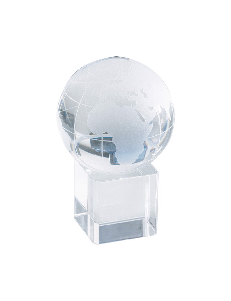 Glob Cristal Satelite - Transparent