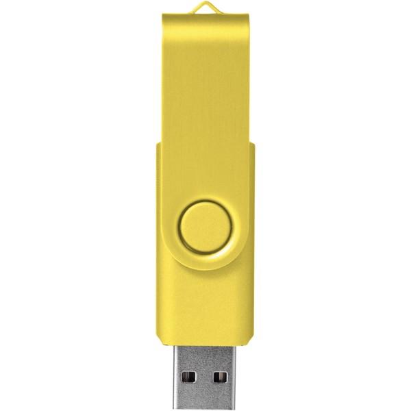 Pamięć USB Rotate-metallic 2GB - Żółty