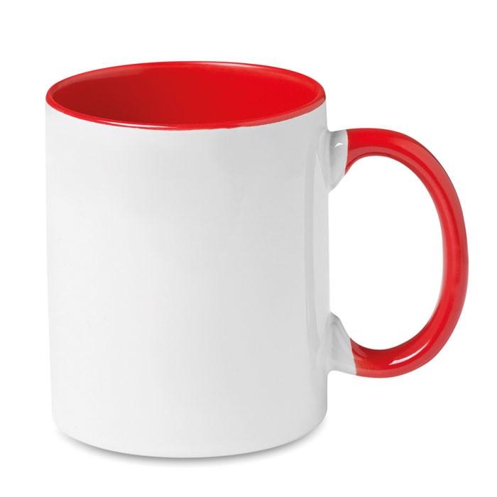 Kolorowy kubek przystosowany d Sublimcoly - czerwony