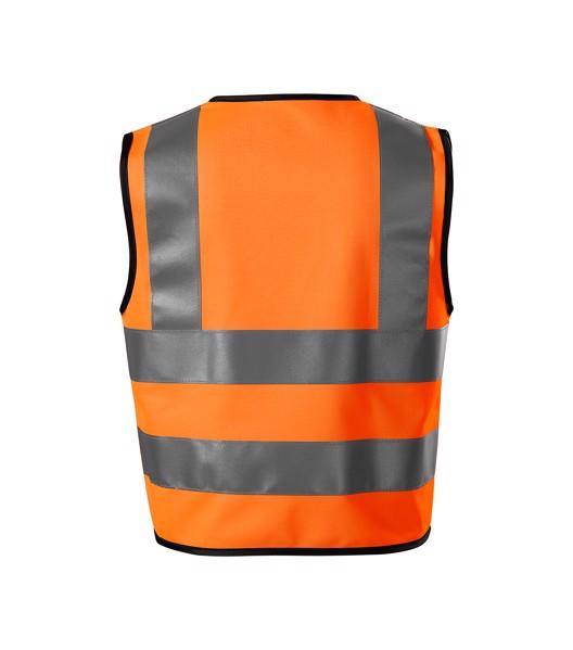 Bezpečnostní vesta dětská Rimeck HV Bright - Fluorescenční Oranžová / 4-6 let/104-128 cm