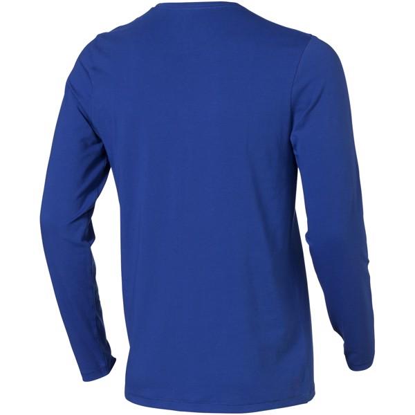 Ponoka long sleeve men's GOTS organic t-shirt - Blue / XXL