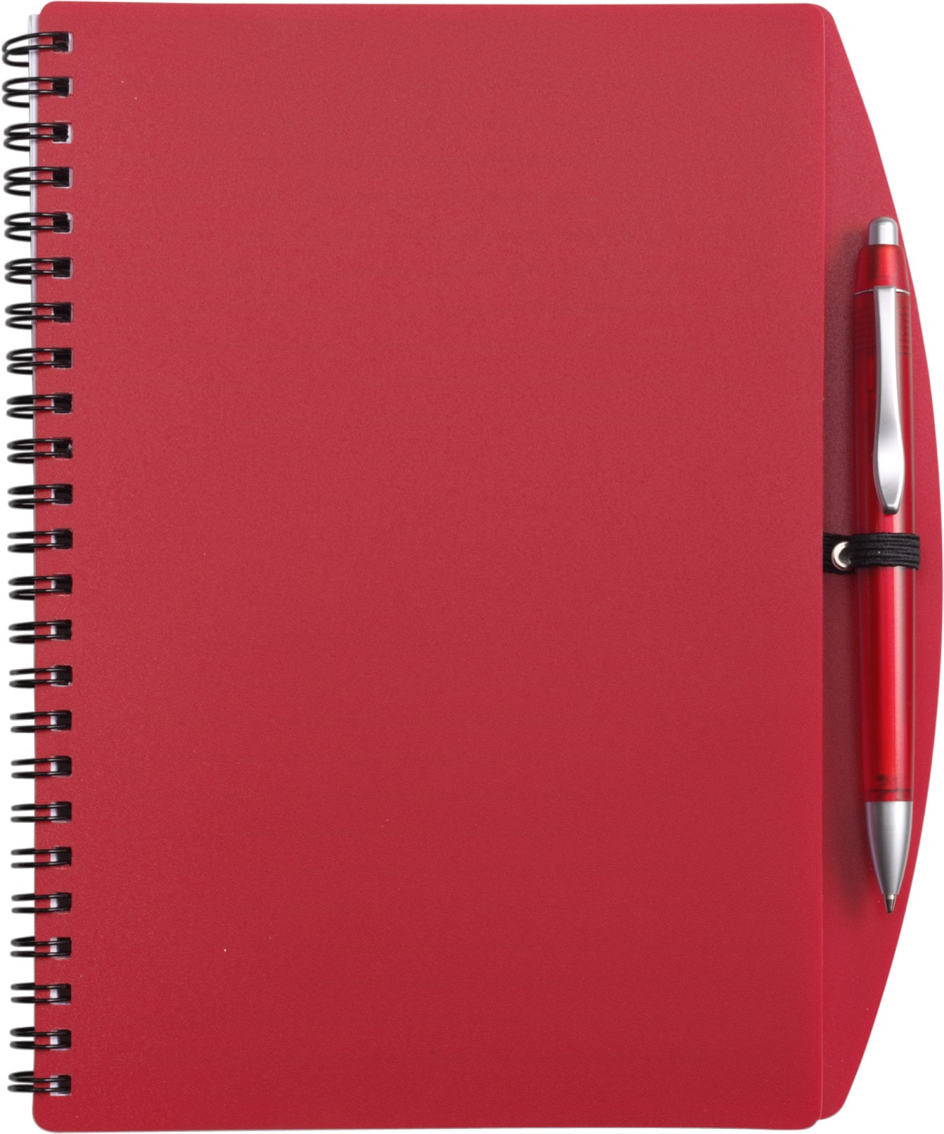 PP notebook with ballpen - Red