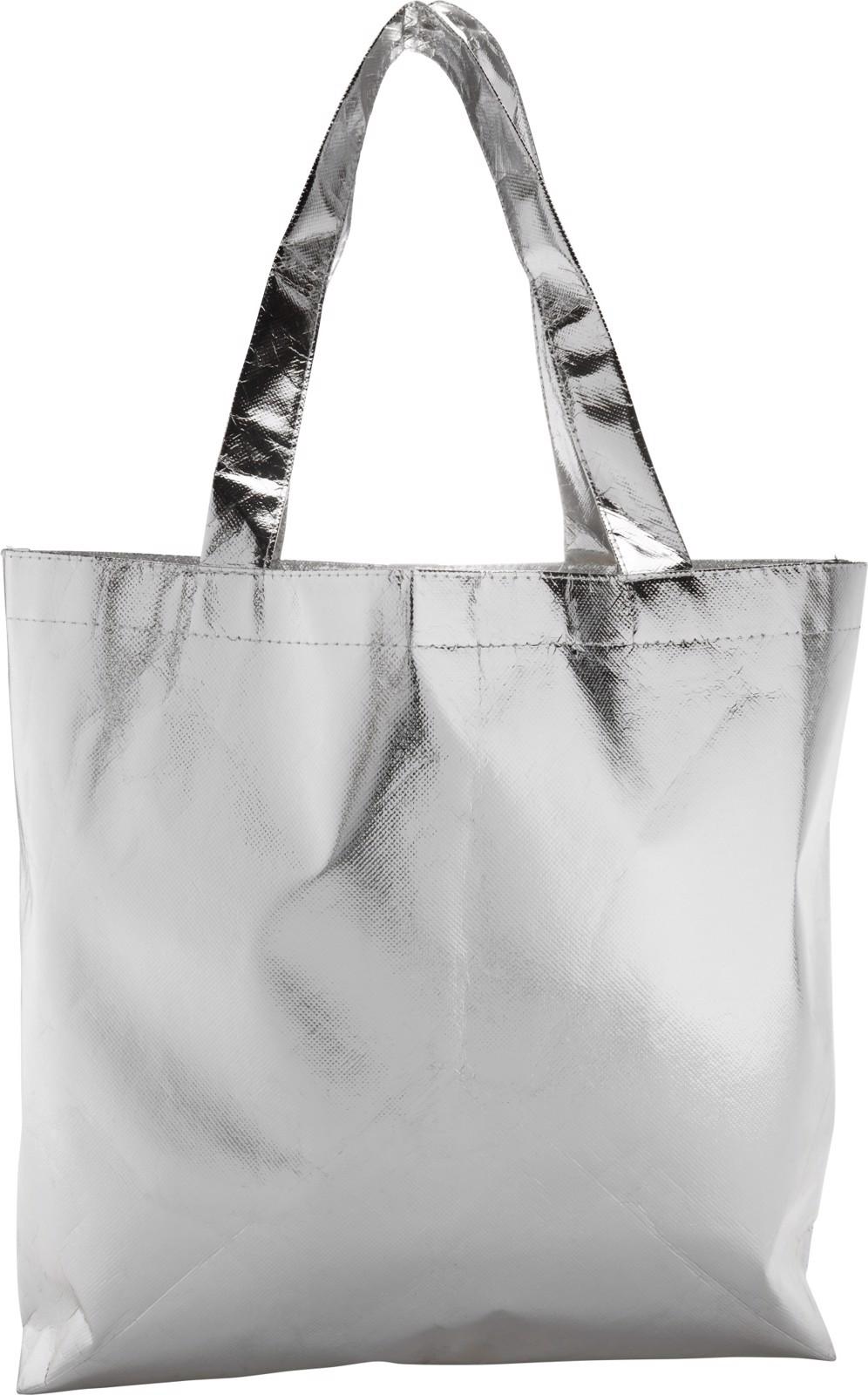 Nonwoven (80 gr/m²) laminated shopping bag - Silver
