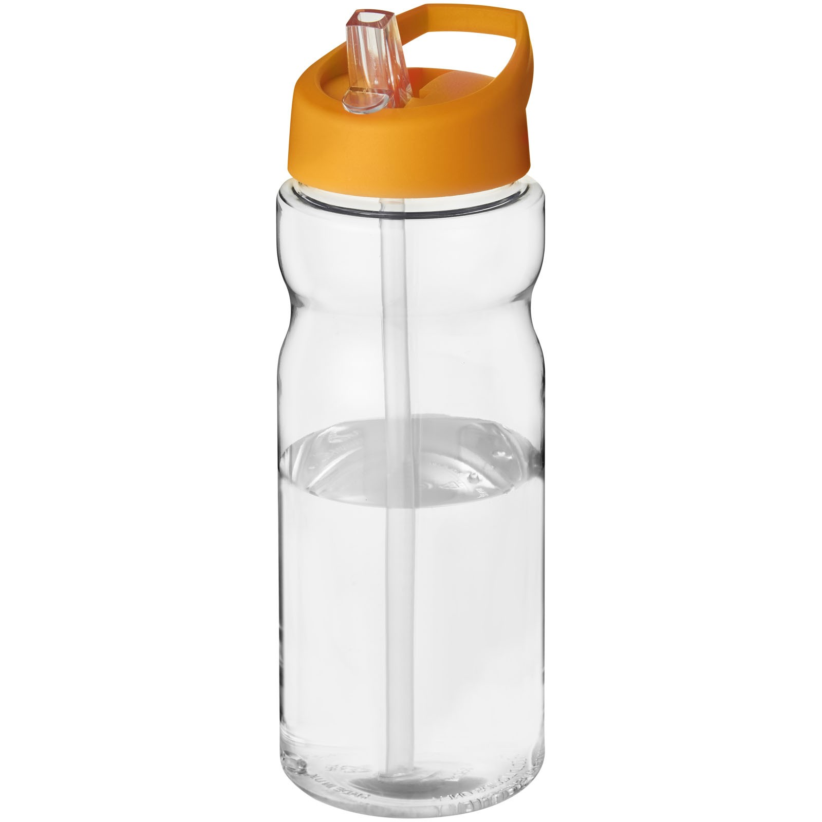 H2O Base® 650 ml spout lid sport bottle - Transparent / Orange
