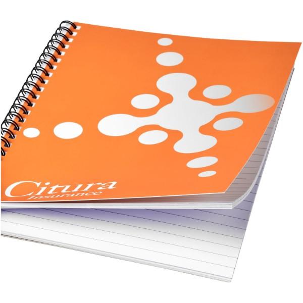 Desk-Mate® A4 Notizbuch mit Kunststoff Cover und Spiralbindung - Weiss / Schwarz