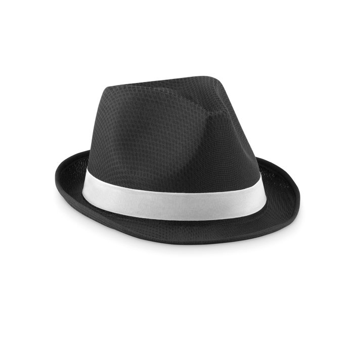 Coloured polyester hat Woogie - Black
