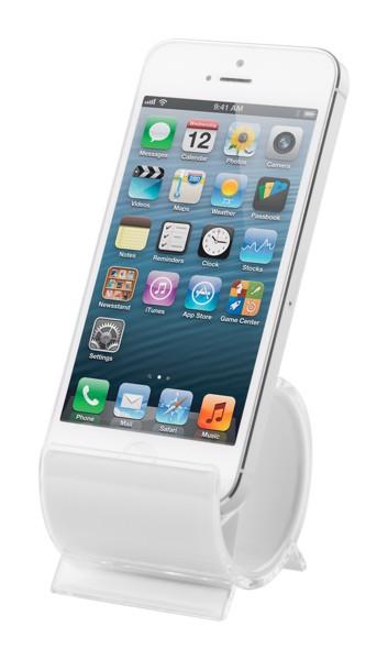 Stojánek Na Mobil Barry - Bílá / Průhledná