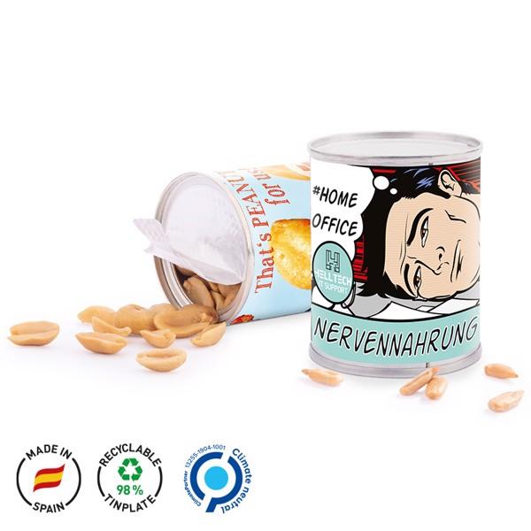Snack Tin, Cashew Peanut Mix - Silver