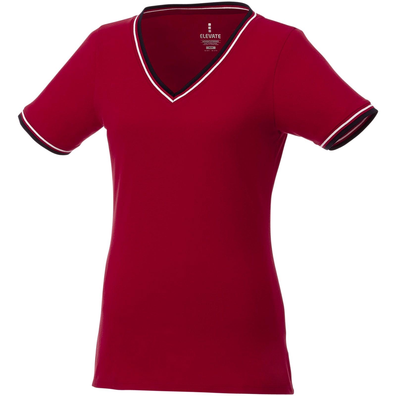 Elbert short sleeve women's pique t-shirt - Red / Navy / White / L