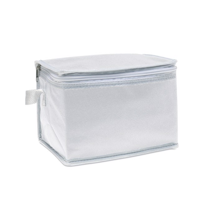 Nonwoven 6 can cooler bag Promocool - White
