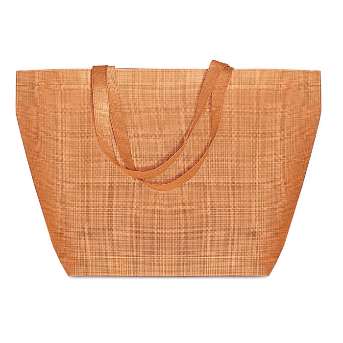 2 tone non woven shopping bag Duo Bag - Orange