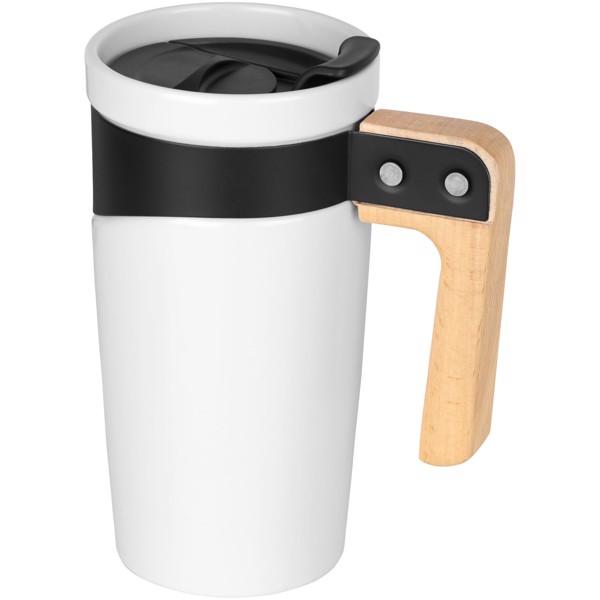 Grotto 475 ml ceramic mug - White