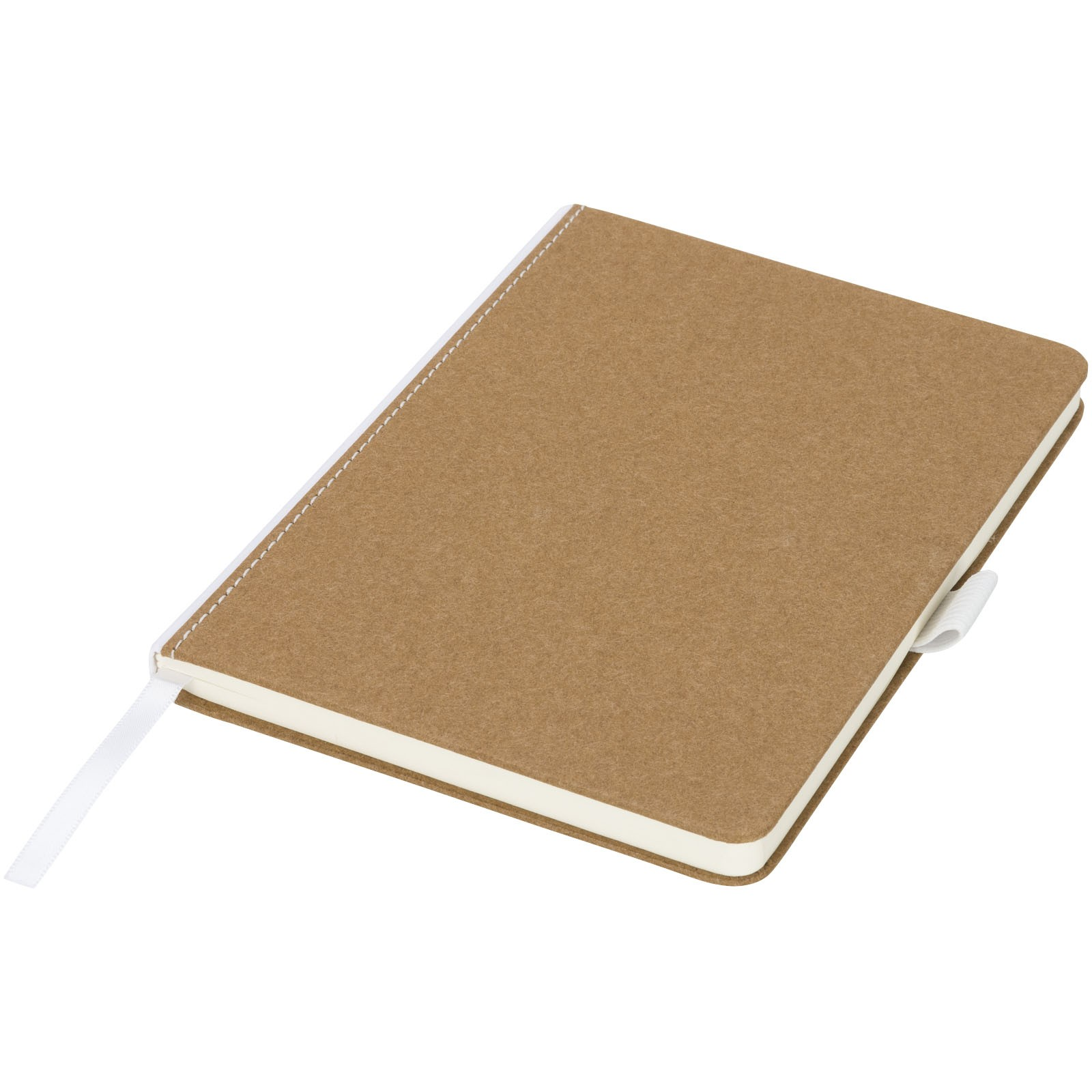 Středně velký lepenkový zápisník Espresso - Přírodní
