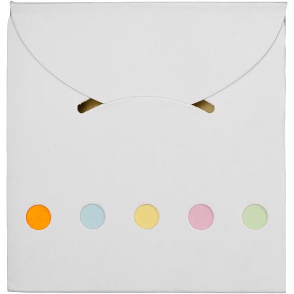 Sada barevných lepicích poznámkových bločků Deluxe - Bílá