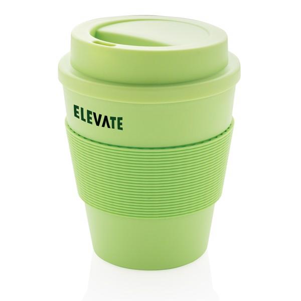 Többször használatos kávésbögre rácsavarható tetővel 350 ml - Zöld