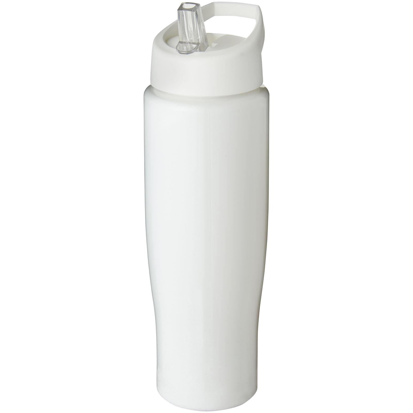 Sportovní láhev s víčkem s hubičkou H2O Tempo® 700 ml - Bílá