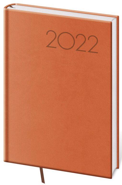Denní diář A5 Print oranžový 2022