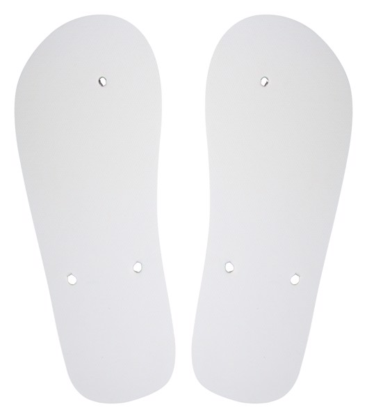 Customisable Beach Slippers - Sole CreaSlip - White / A
