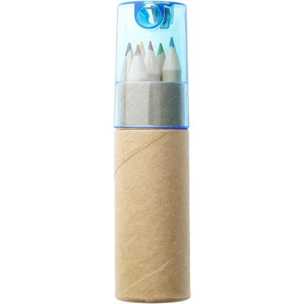 Kram 7-piece coloured pencil set - Blue