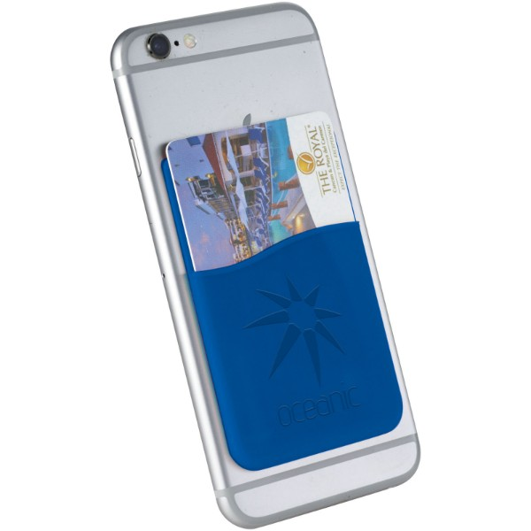 Silikonové pouzdro na kartu Slim - Světle modrá