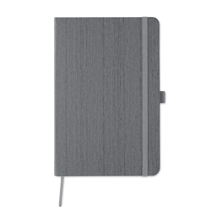 A5 notebook in PU with penloop Woody - Grey