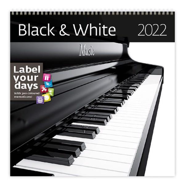 Měsíční kalendář 2022 - Black / White