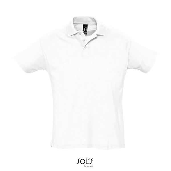 SUMMER II-MEN POLO-170g - White / M