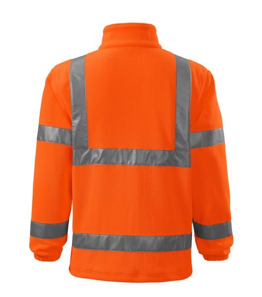 Fleece unisex Rimeck HV Fleece Jacket - Fluorescenční Oranžová / M