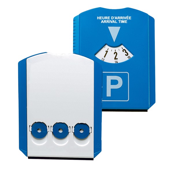 "Parking Disk ""Prime"" With Chip - Blue / White"