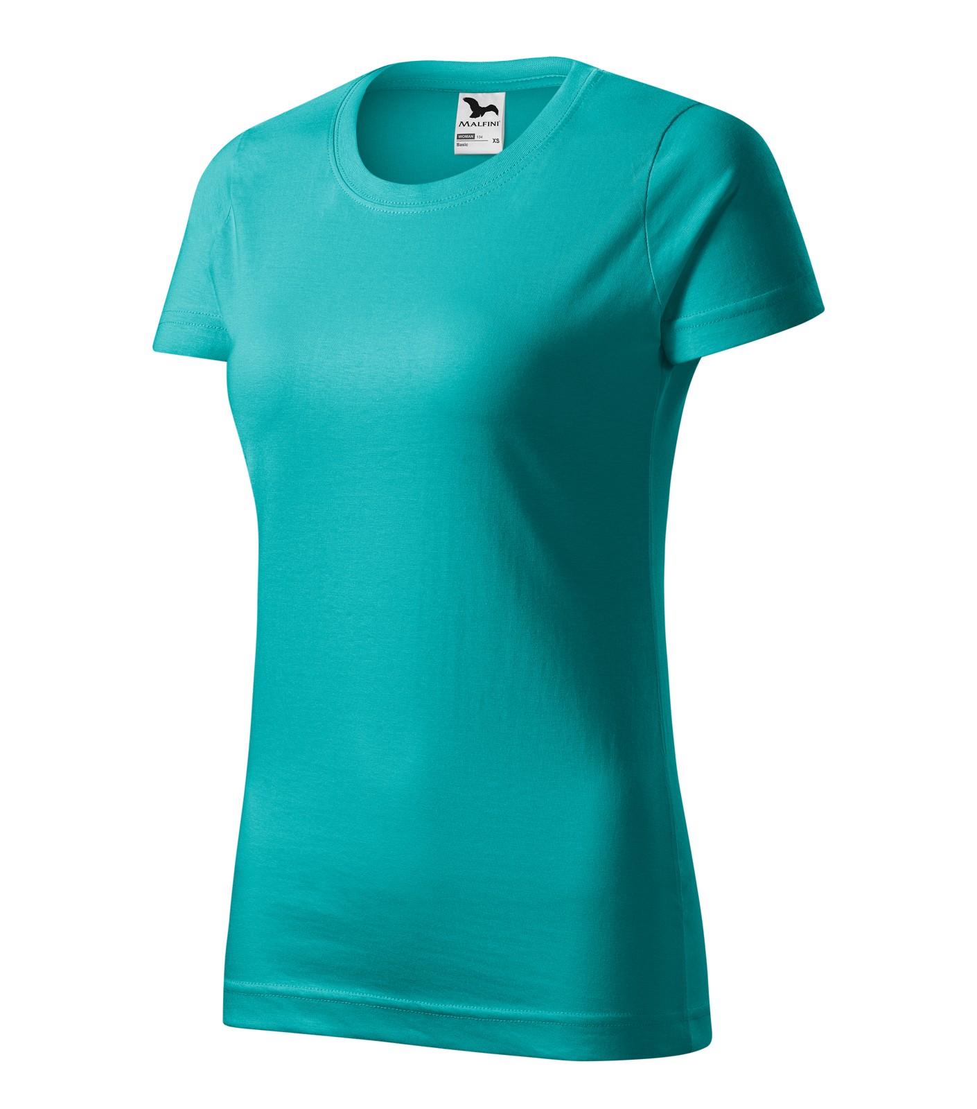 Tričko dámské Malfini Basic - Emerald / S