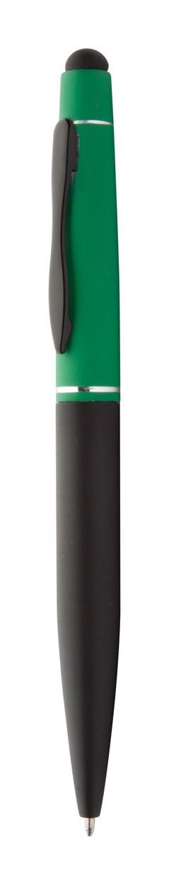 Dotykové Kuličkové Pero Negroni - Zelená / Černá